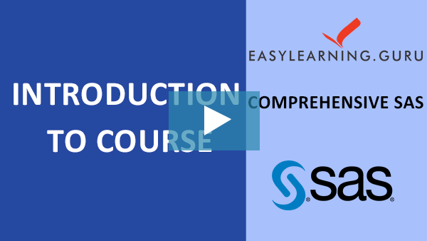 Comprehensive SAS Training Online Self-Paced Video Image